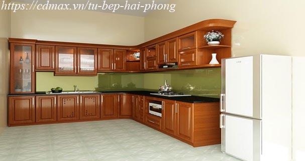 Thiết kế tủ bếp gỗ xoan đào