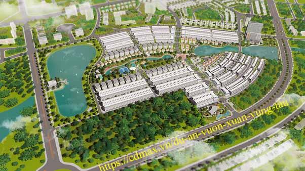 Phối cảnh tổng thể dự án Vườn Xuân Vũng Tàu
